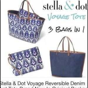 New S&D Voyager Reversible Ikat Tote